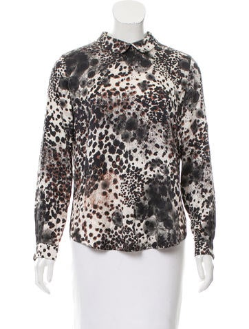 Mulberry Printed Silk Top None