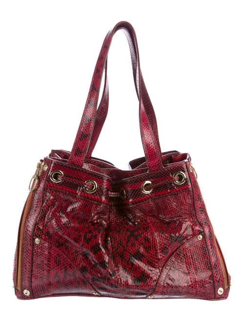 Mulberry Snakeskin Poppy Shoulder Bag