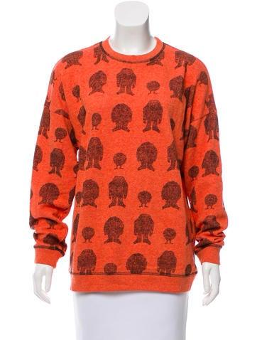 Mulberry Intarsia Oversize Sweater None