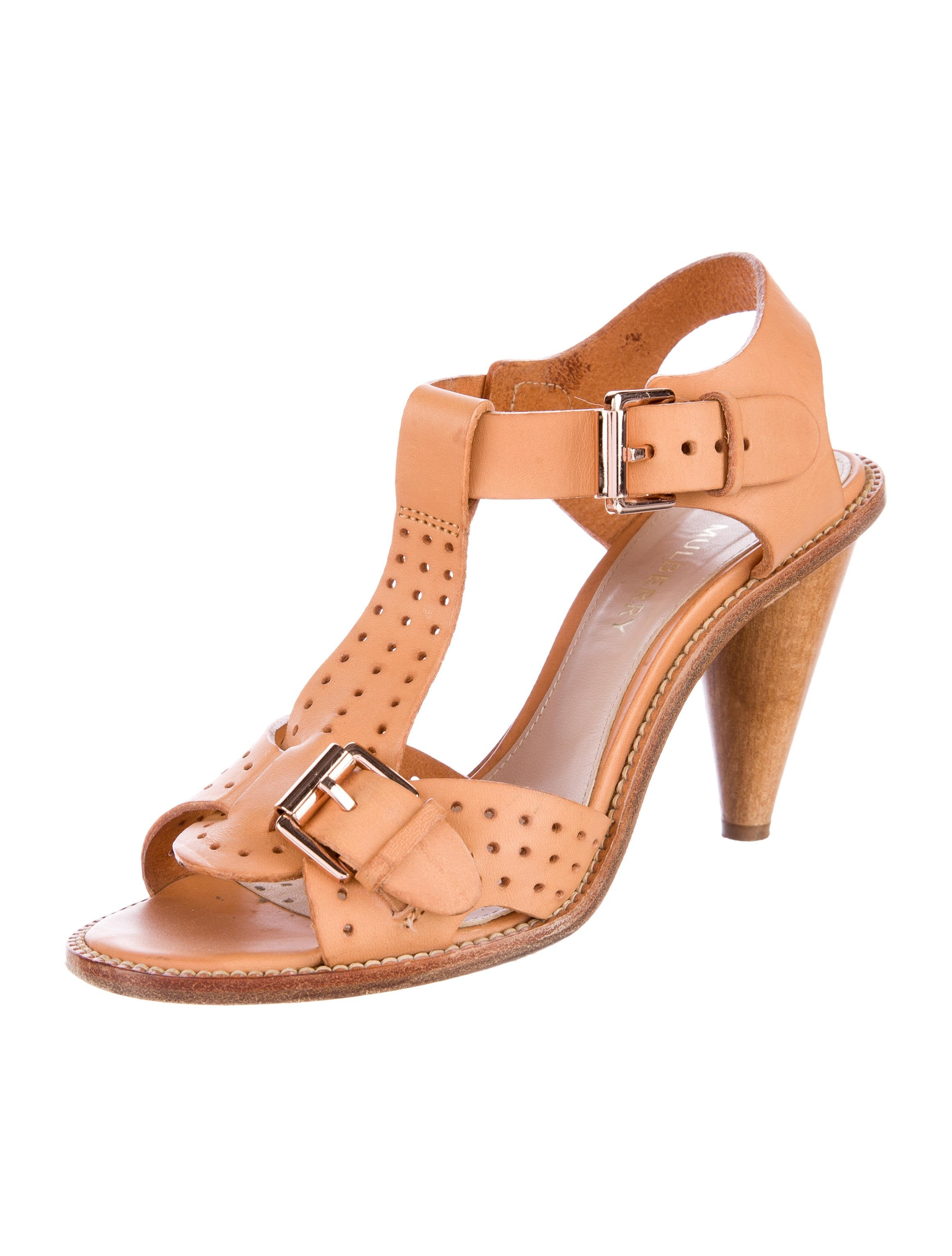 Mulberry Edie Perforated Sandals low shipping q9nQrn
