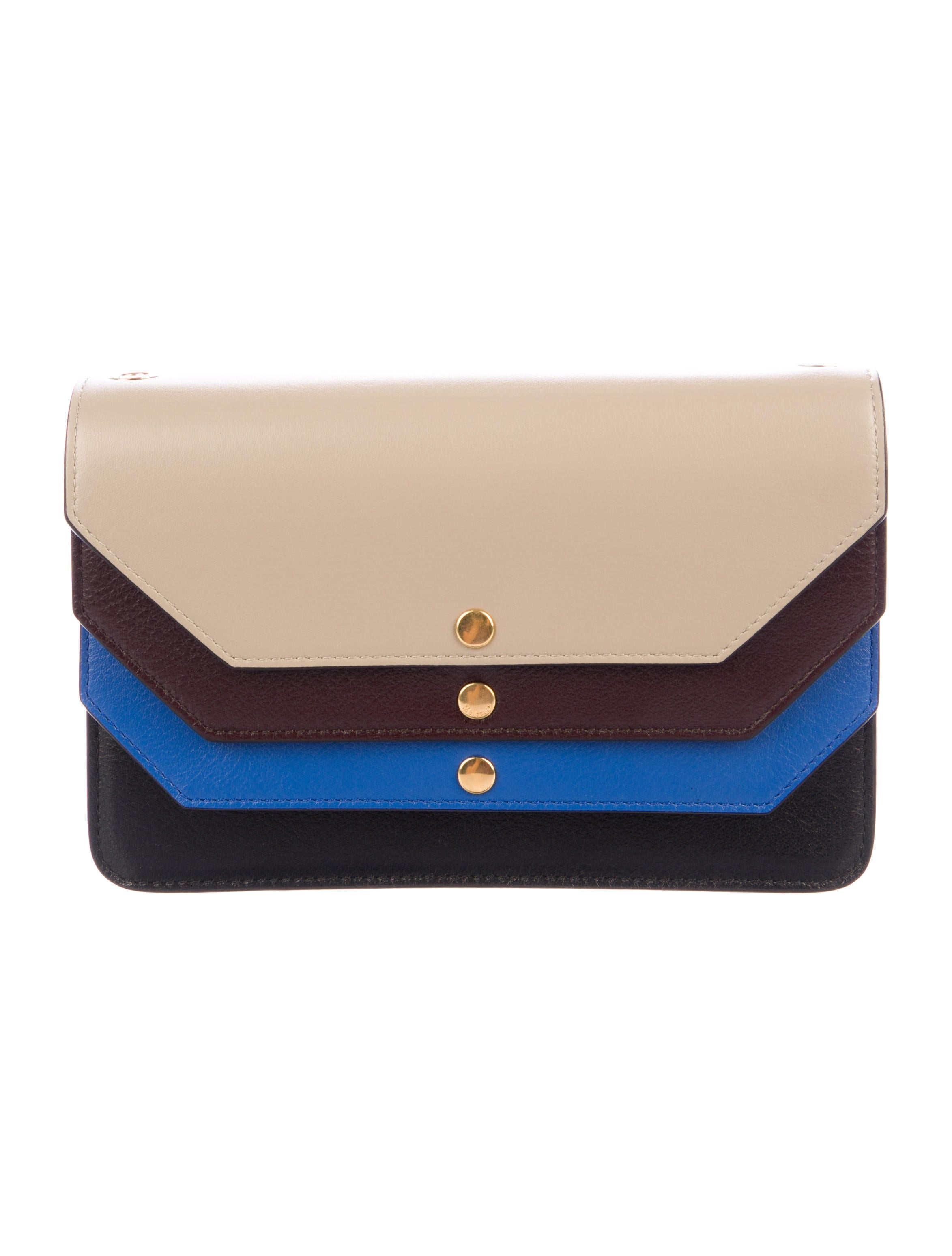 a749dc6bcba Mulberry Multiflap Leather Clutch - Handbags - MUL24143 | The RealReal
