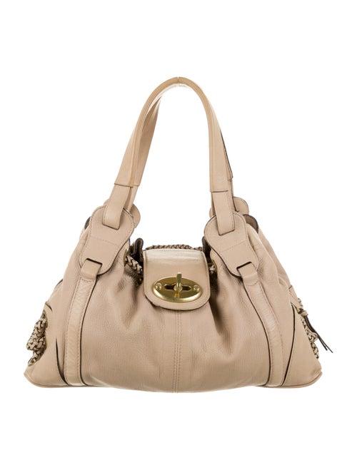 Mulberry Leather Shoulder Bag Beige