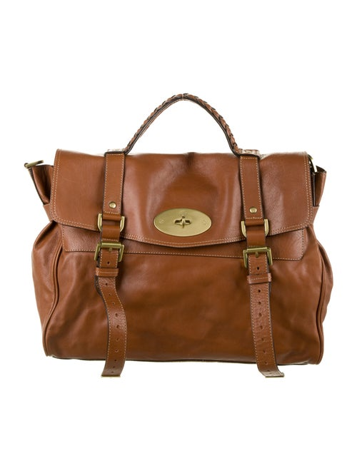 Mulberry Alexa Leather Satchel Brown