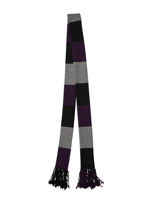 Mulberry Knit Striped Scarf Purple
