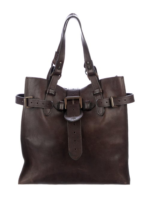 Mulberry Grained Leather Tote Brown