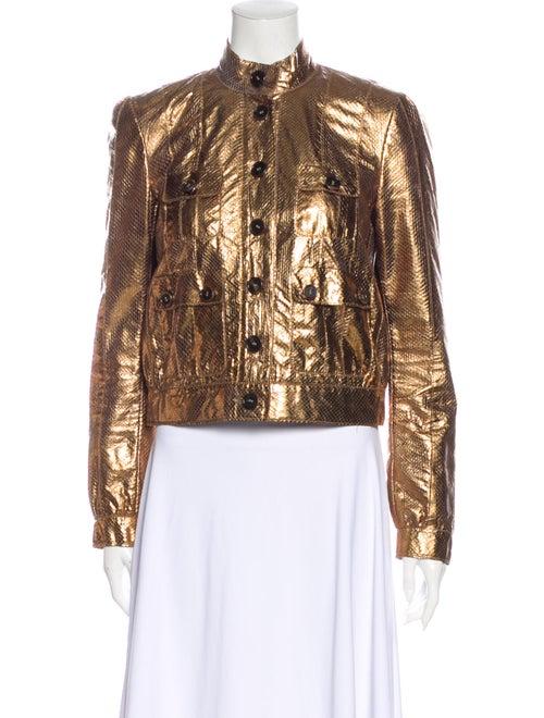 Mulberry Snakeskin Jacket Gold