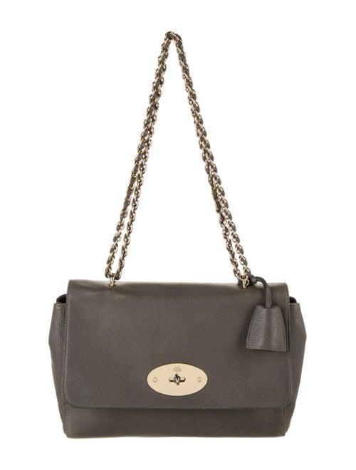 Mulberry Leather Shoulder Bag Grey