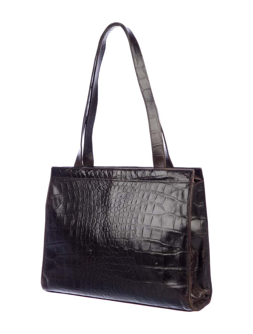 Mulberry Embossed Leather Tote Brown - image 3