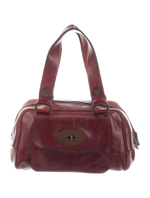 Mulberry Vintage Leather Handle Bag Red