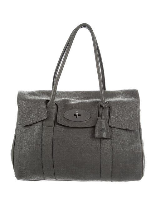 Mulberry Leather Handle Bag Grey