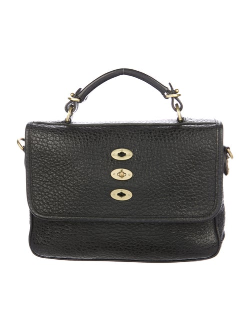 Mulberry Grained Leather Satchel Black