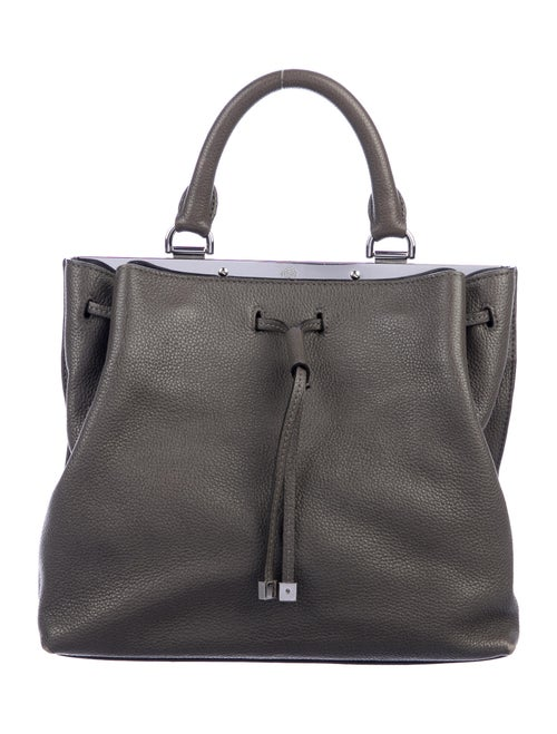 Mulberry Leather Crossbody Bag Grey