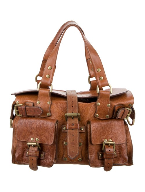 Mulberry Leather Handle Bag Brown