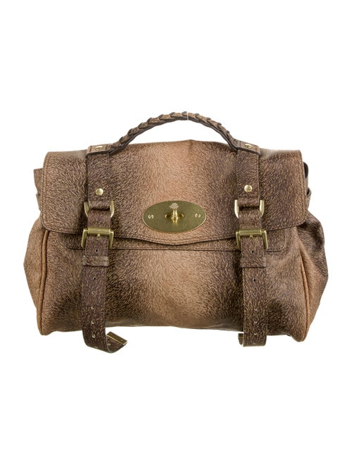 Mulberry Embossed Alexa Bag Brown