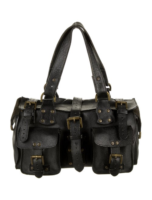 Mulberry Leather Shoulder Bag Black