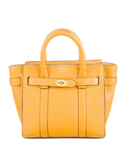 Mulberry Leather Crossbody Bag Yellow