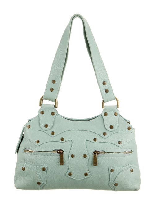 Mulberry Leather Shoulder Bag Green