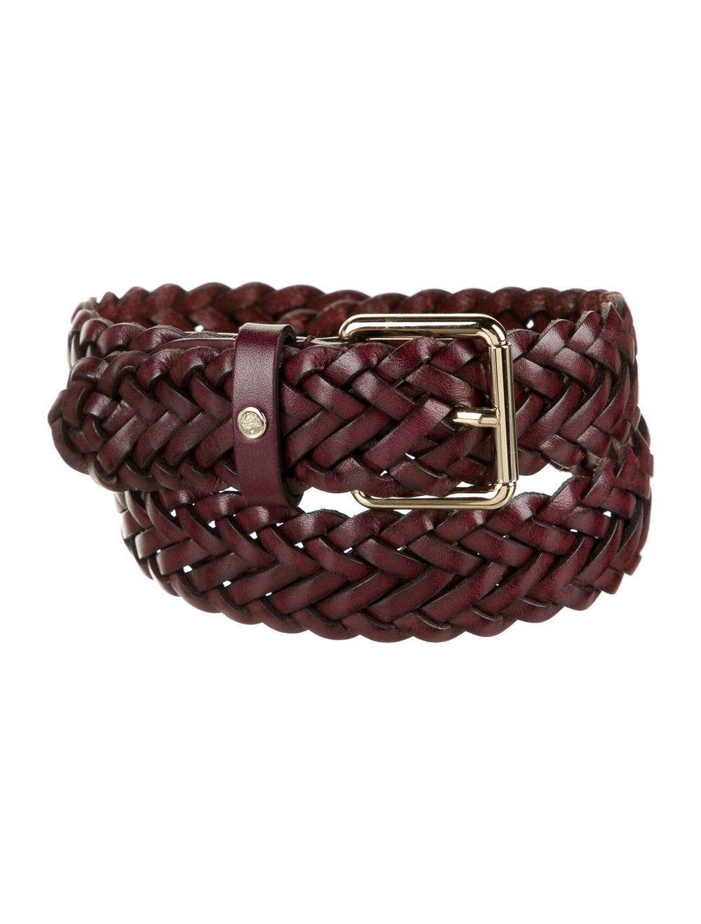 Mulberry Braided Leather Belt Gold - image 1