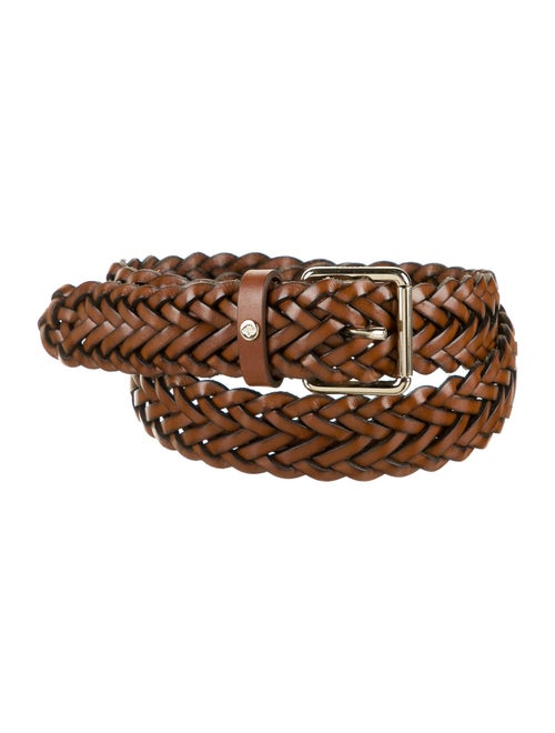Mulberry Braided Leather Belt Brown
