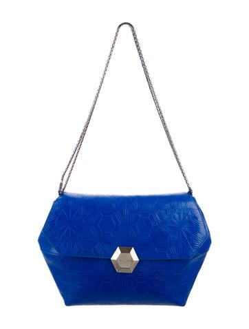 Matthew Williamson x Bvlgari Embossed Leather Shoulder Bag