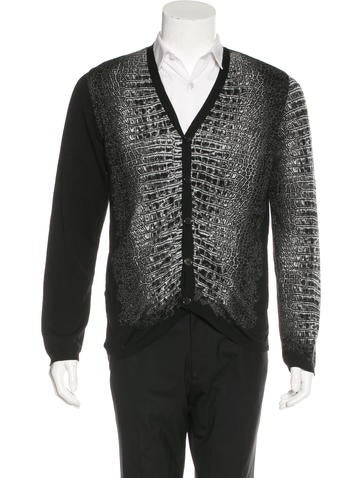 Miharayasuhiro Croc Patterned Cardigan None