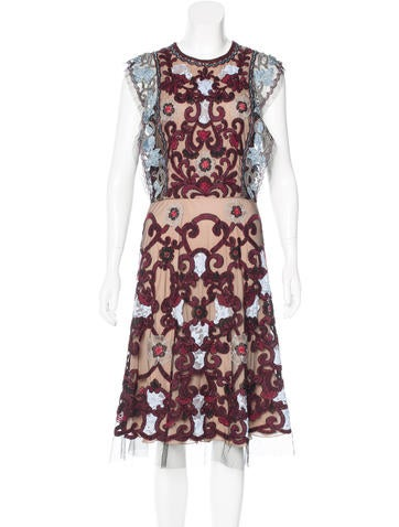 Naeem Khan Silk Embellished Dress