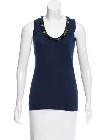Naeem Khan Embellished Cashmere Top w/ Tags None