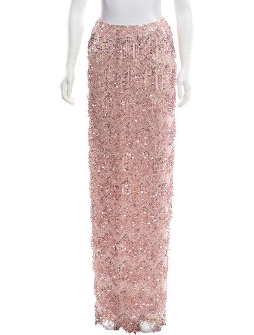 Naeem Khan Embellished Maxi Skirt w/ Tags Pink