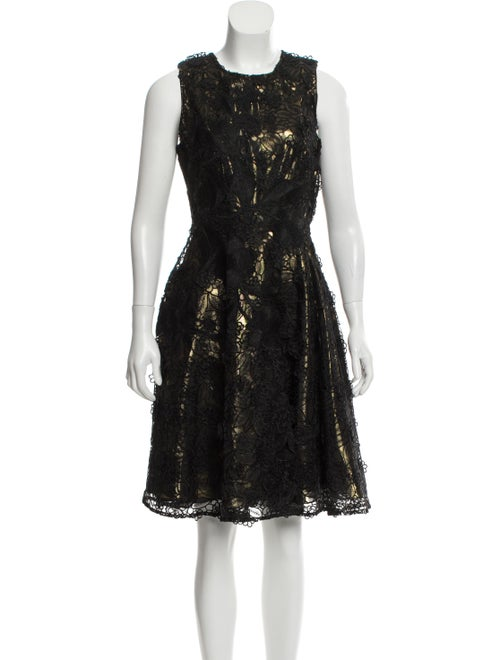 Naeem Khan Knee-Length Metallic Dress Metallic