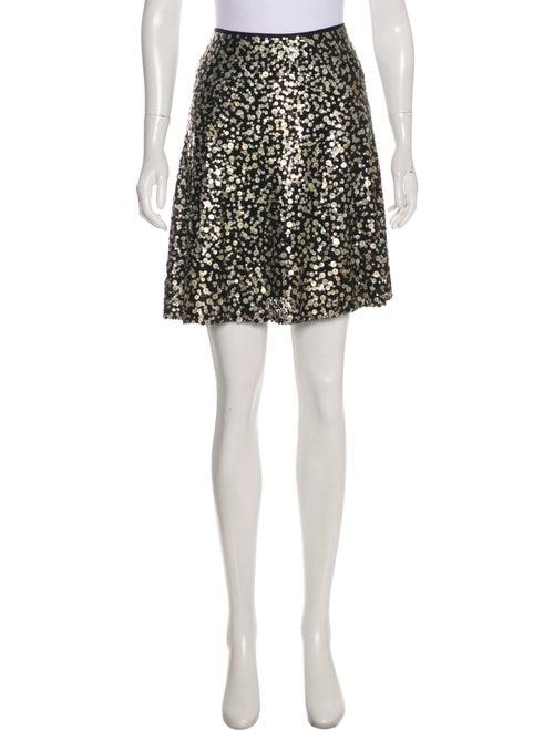 Naeem Khan Silk Mini Skirt Black