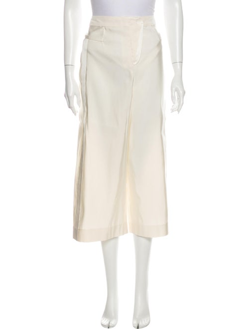 Naeem Khan Wide Leg Pants White
