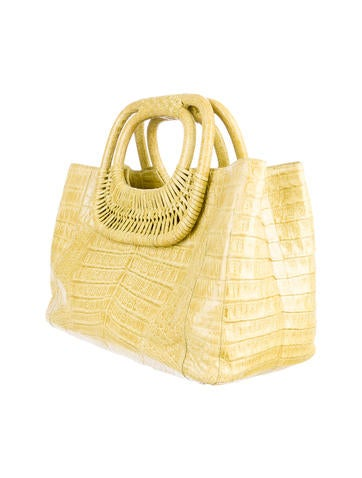 Crocodile Basket Tote