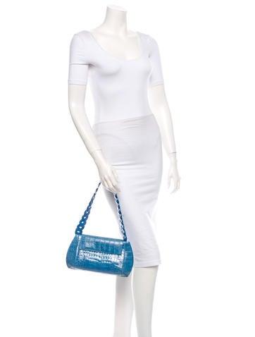 Crocodile Flap Bag