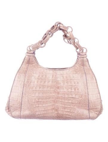 Crocodile Chain Handle Bag