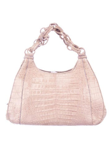 Crocodile Chain Handle Bag