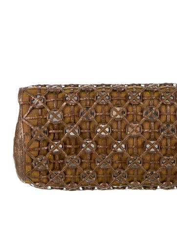 Crocodile Mirror Clutch