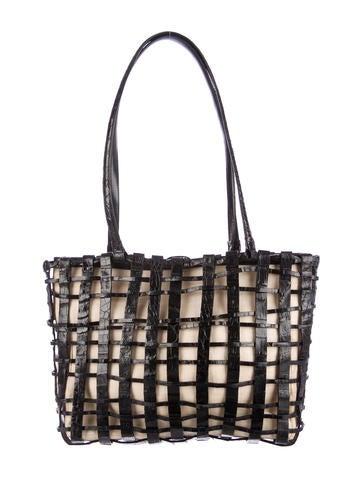 Crocodile Lattice Shoulder Bag