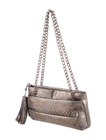 Metallic Python Shoulder Bag
