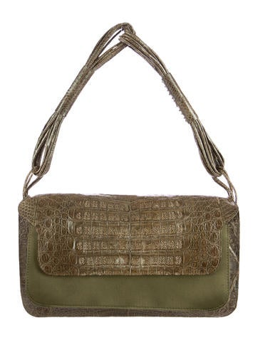 Crocodile Flap Bag