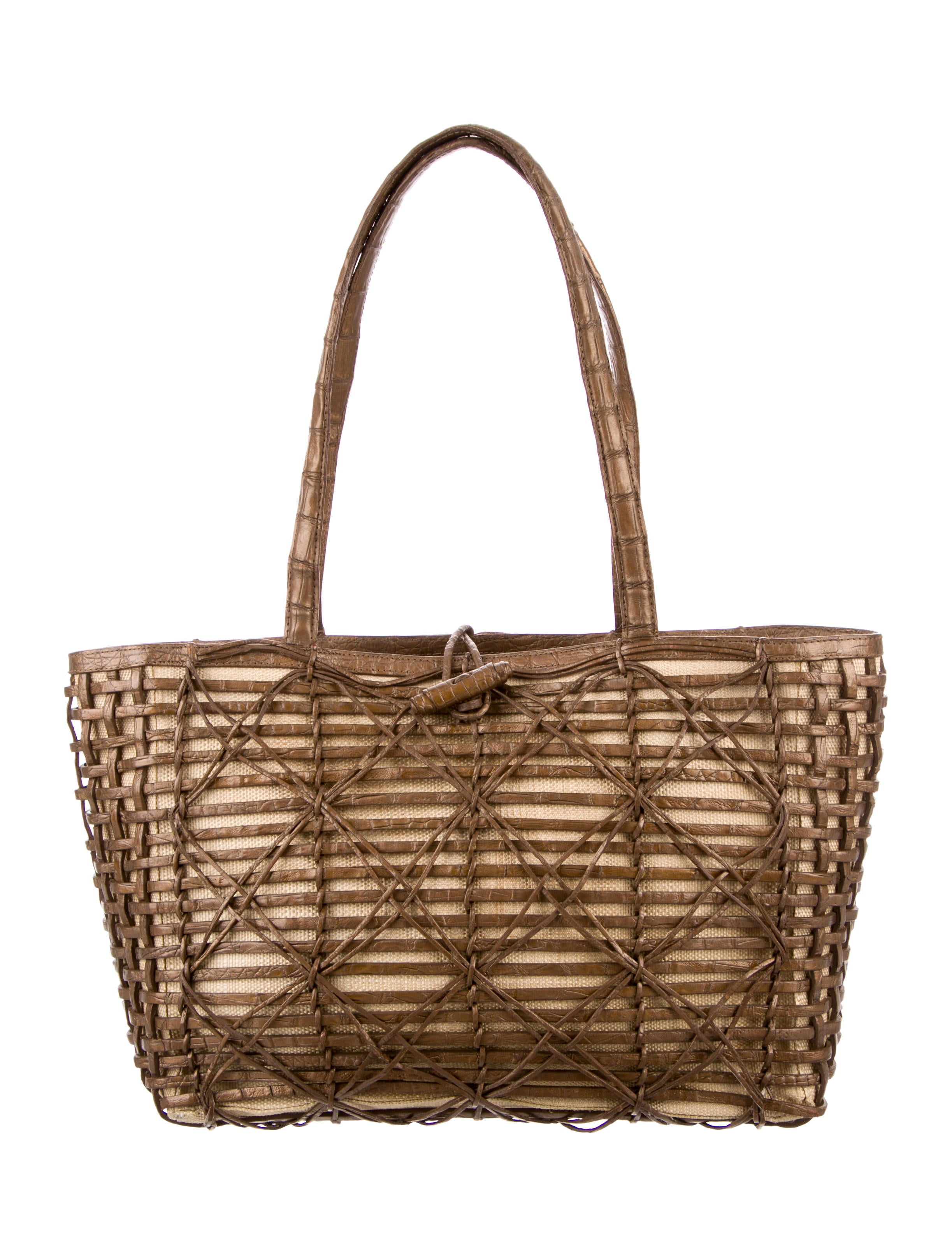 Nancy gonzalez crocodile woven tote handbags nan22483 for Nancy gonzalez crocodile tote