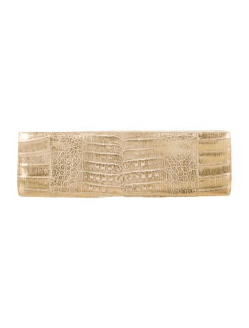 Crocodile Metallic Clutch