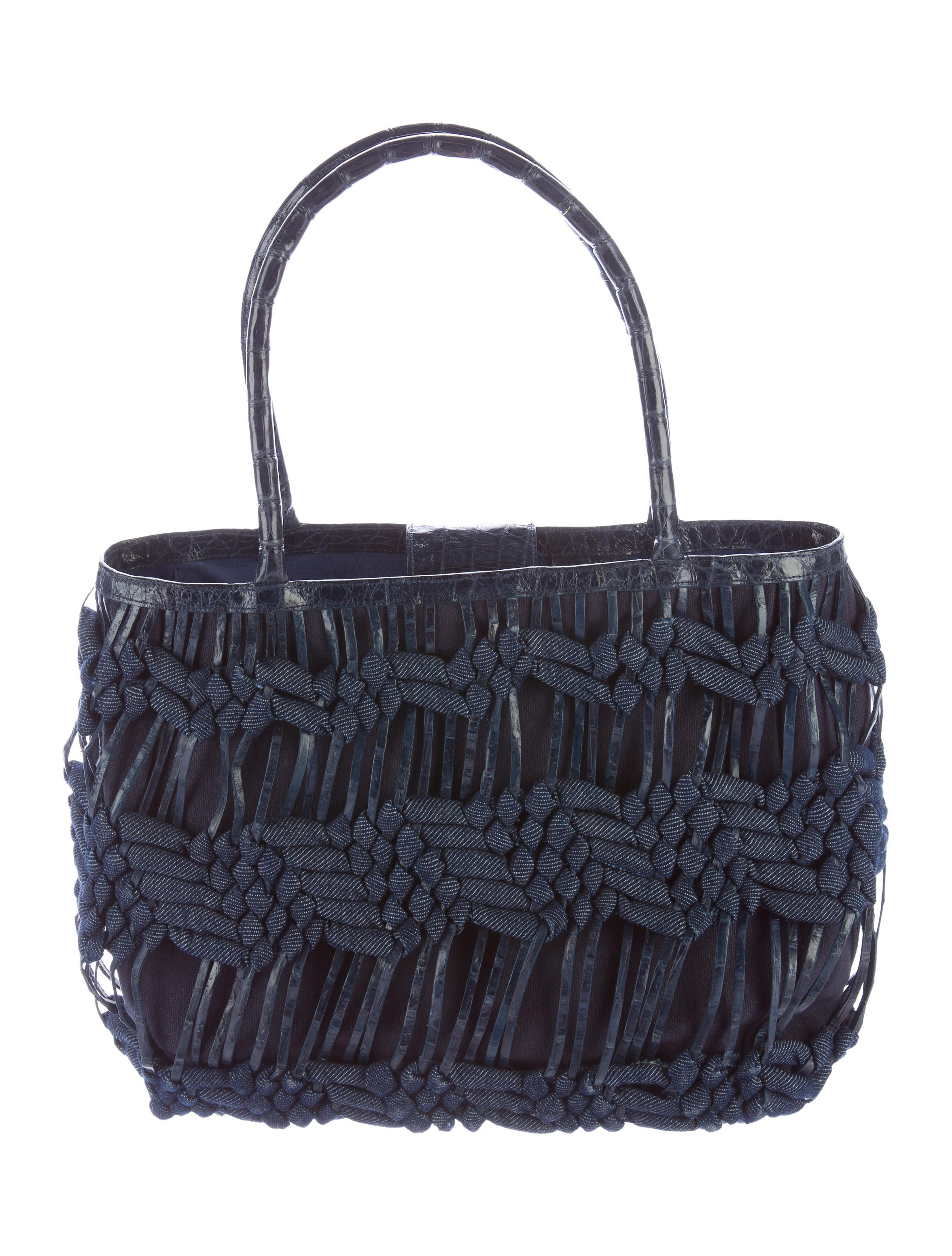 Nancy gonzalez woven crocodile tote handbags nan22686 for Nancy gonzalez crocodile tote