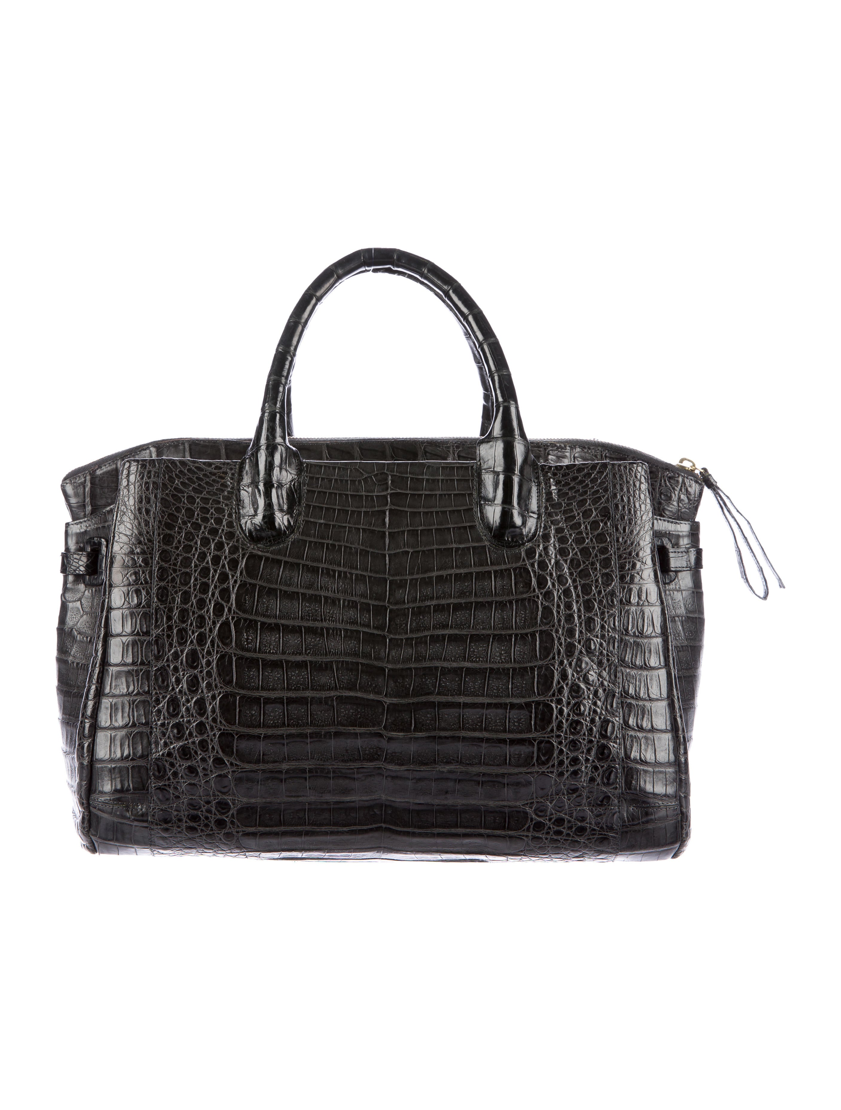 Nancy gonzalez crocodile top handle tote handbags for Nancy gonzalez crocodile tote