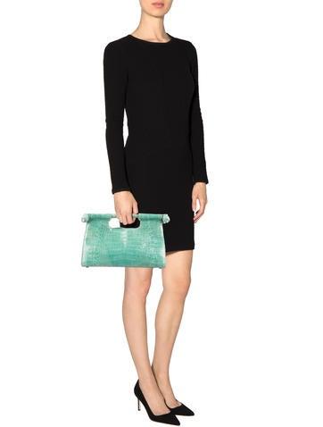 Crocodile Top Handle Bag