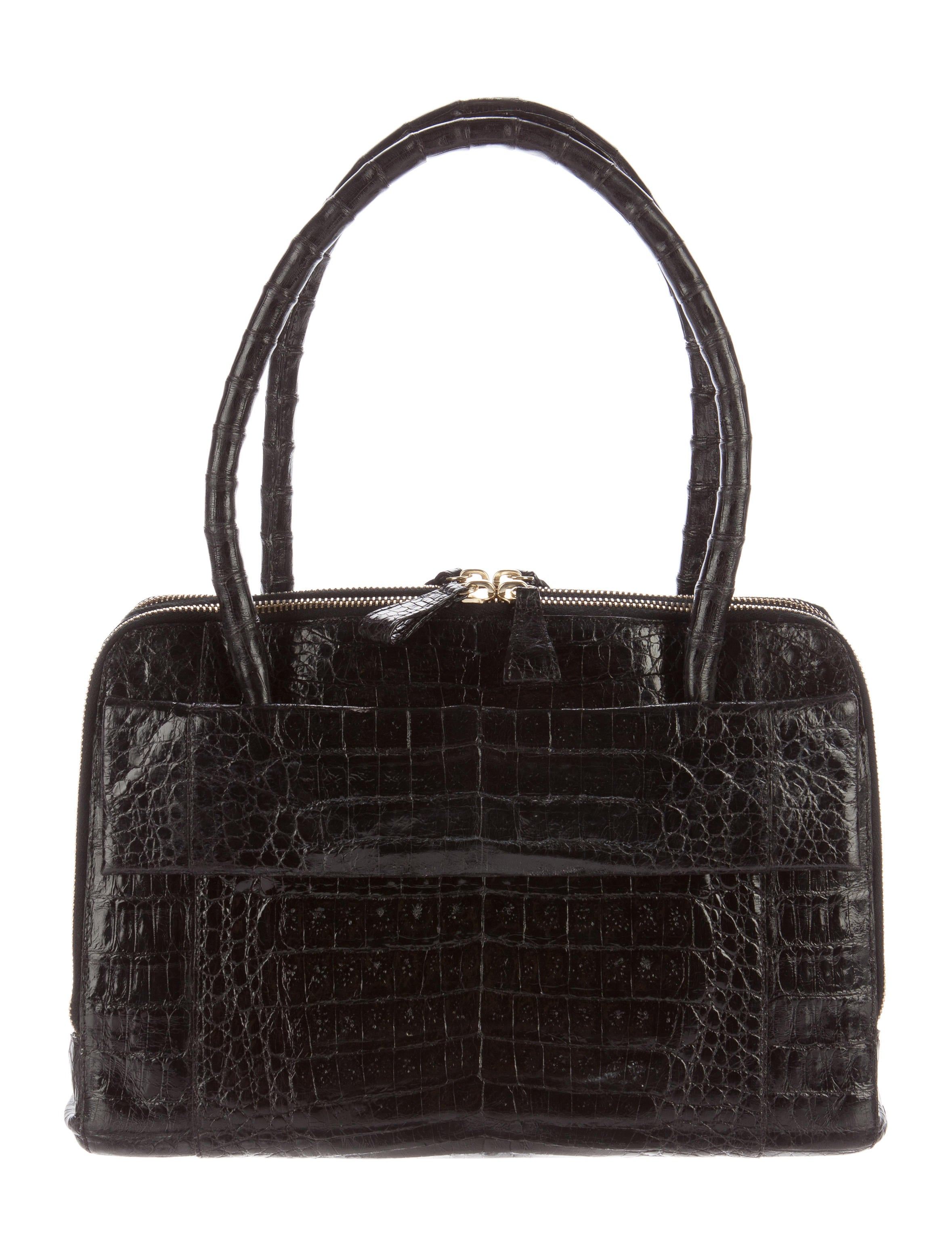 Nancy gonzalez crocodile zip tote handbags nan23353 for Nancy gonzalez crocodile tote