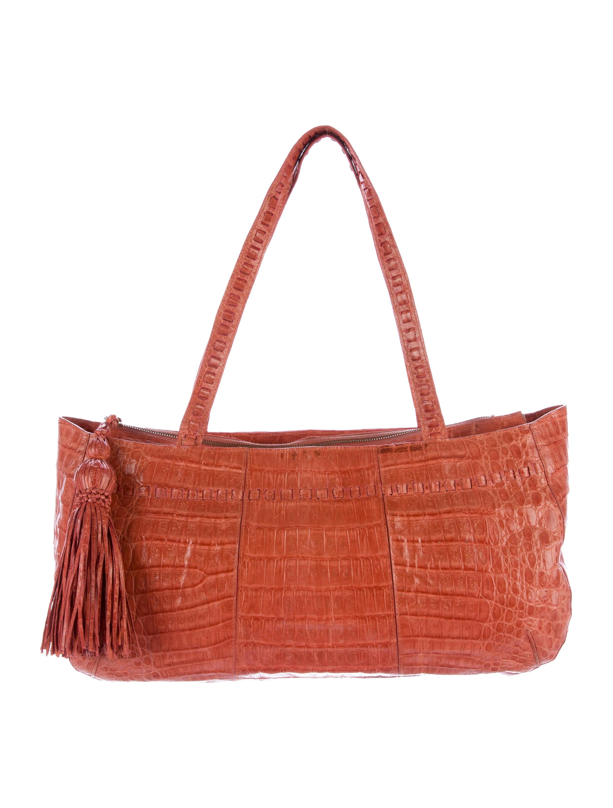 Nancy gonzalez crocodile tassel tote handbags nan23509 for Nancy gonzalez crocodile tote