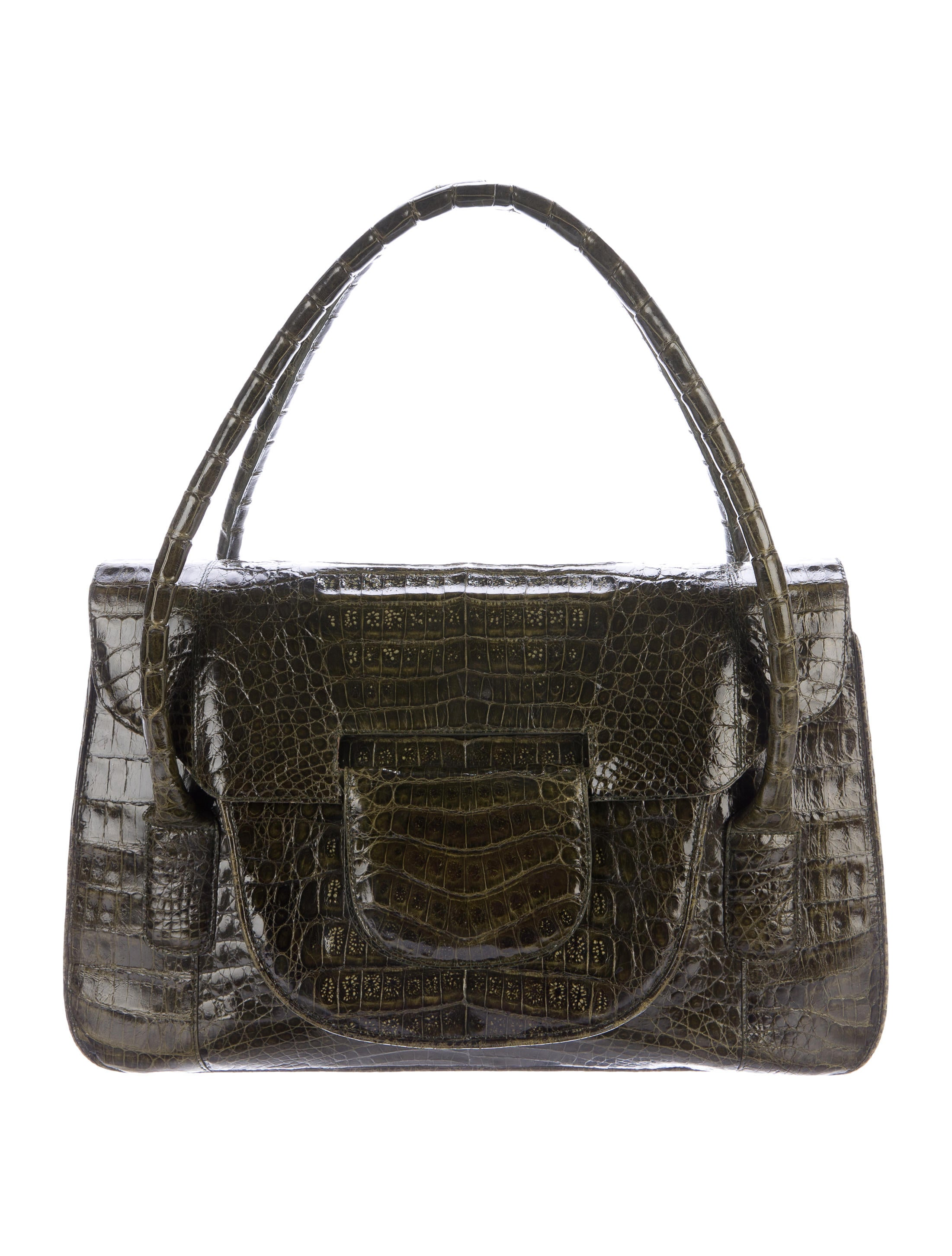 Nancy Gonzalez Crocodile Shoulder Bag Handbags