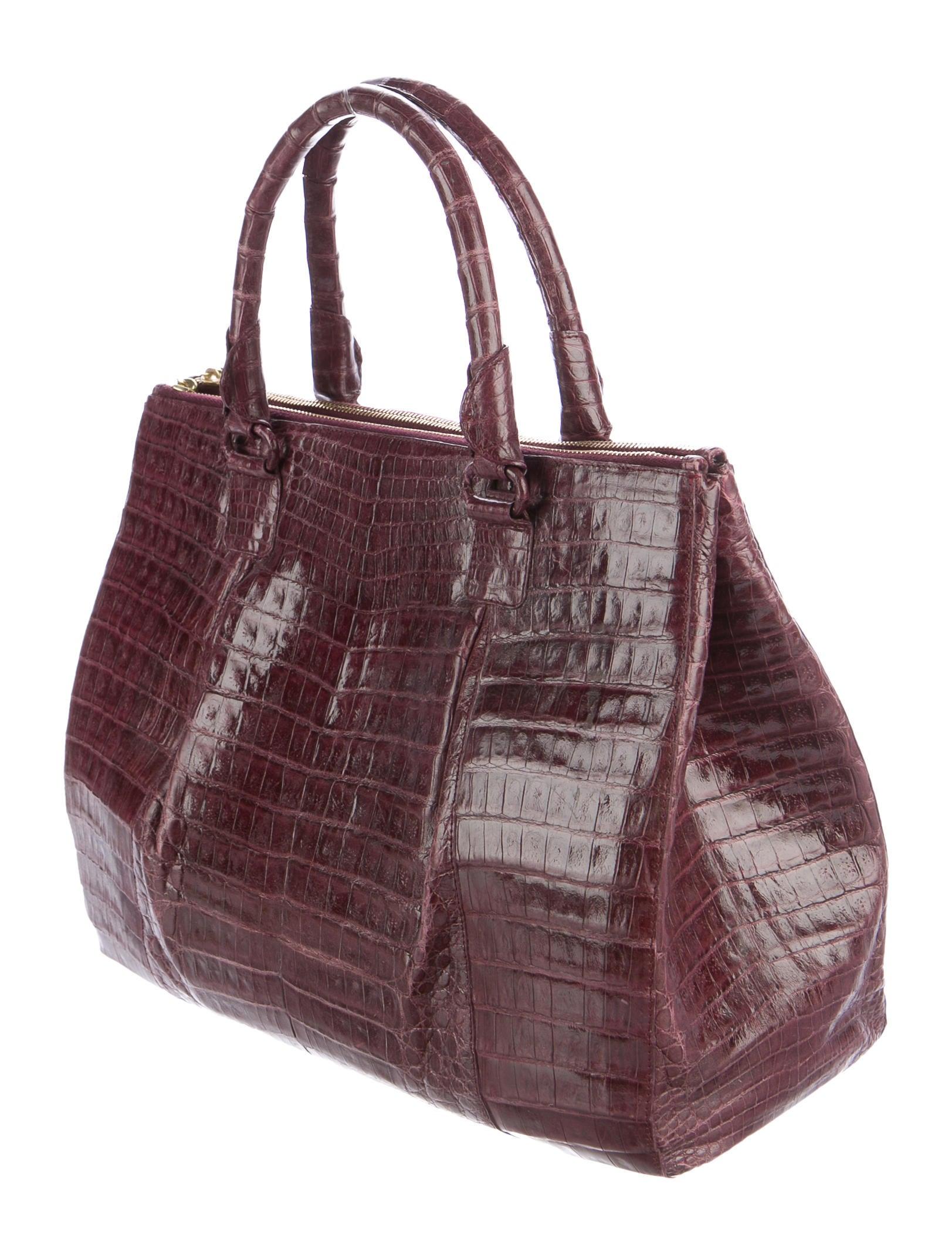 Nancy gonzalez crocodile double zip tote handbags for Nancy gonzalez crocodile tote