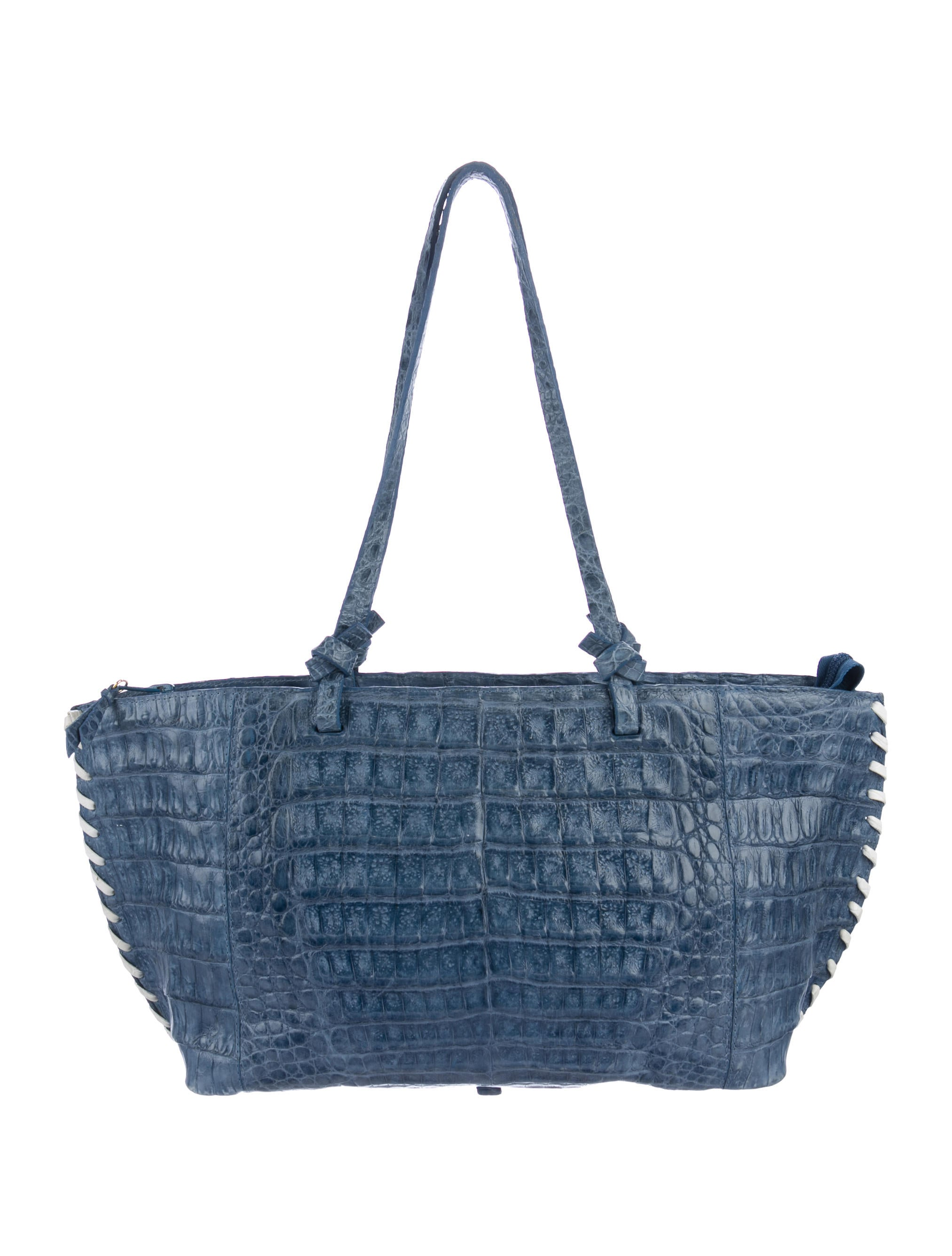 Nancy gonzalez crocodile whipstitch tote handbags for Nancy gonzalez crocodile tote