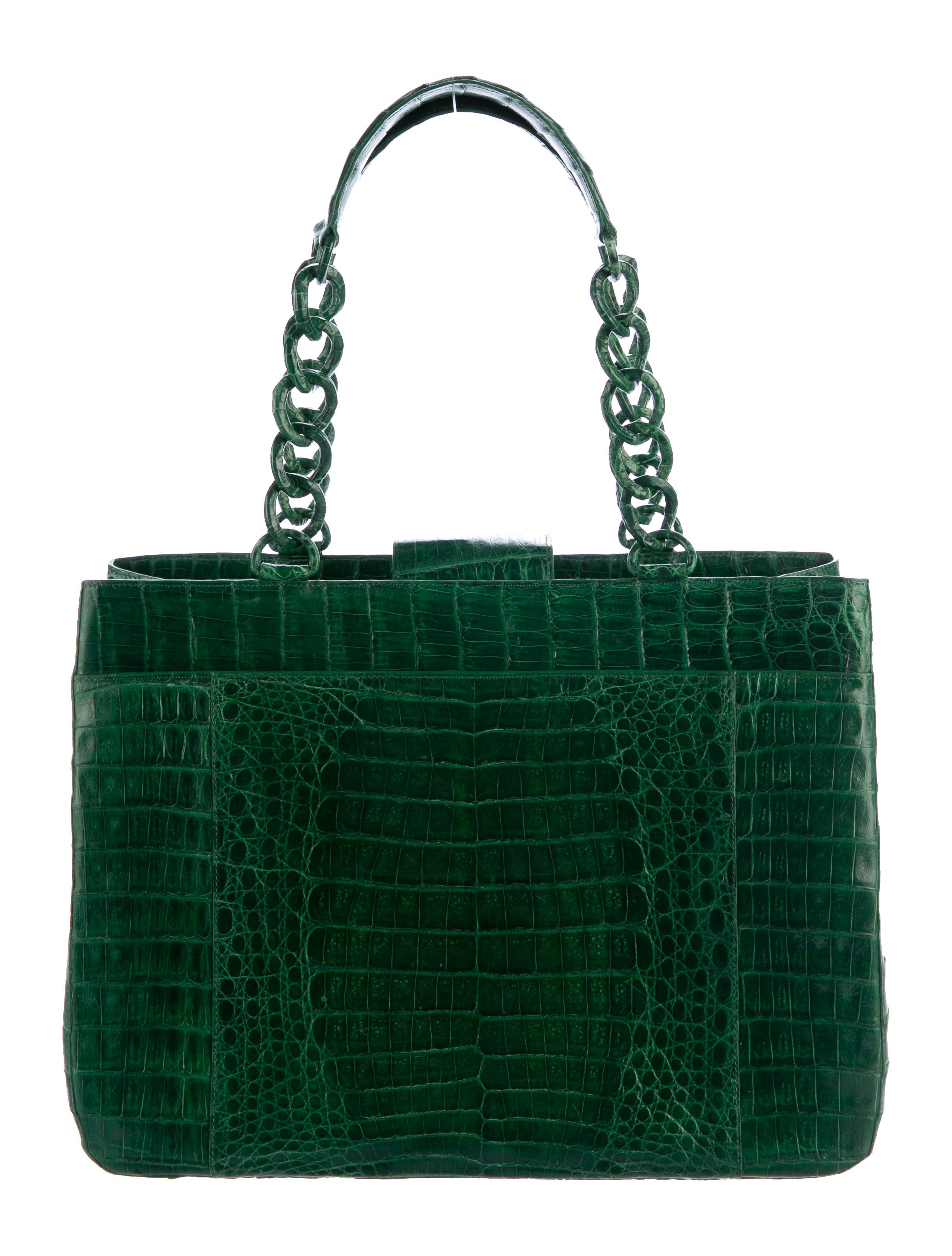 Nancy gonzalez crocodile chain tote handbags nan24092 for Nancy gonzalez crocodile tote